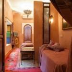 Dreibett-Zimmer Soleil im 1. Stock vom Hotel La Maison Nomade Marrakech