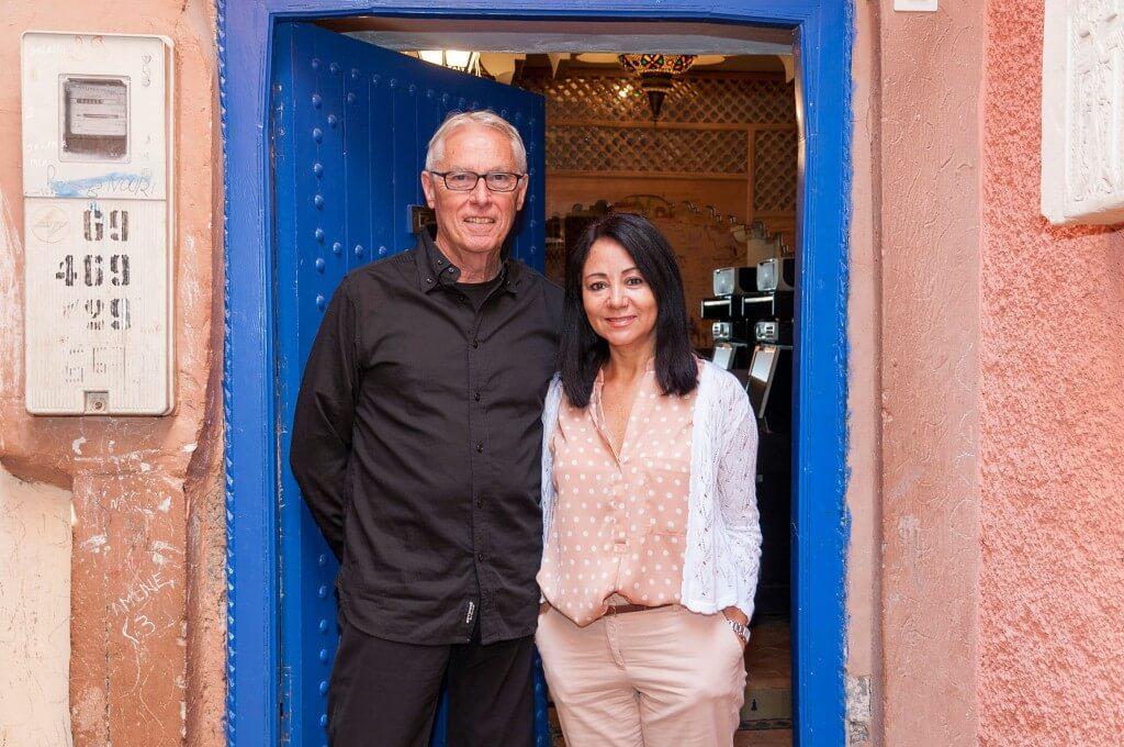 An der blauen Türe, der Eingangstüre des Riad La Maison Nomade