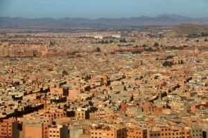 Kurz vor der Landung in Marrakesch