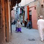 Straße zum Riad La Maison Nomade in Marrakesch