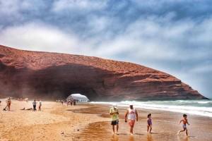 Strand Leghzira Beach bei Sidi Ifni am Atlantik