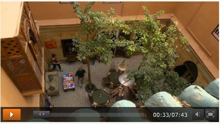 Screenshot Video ZDF vom Riad La Maison Nomade in Marrakesch