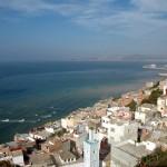 Blick von Tanger über die Straße von Gibraltar