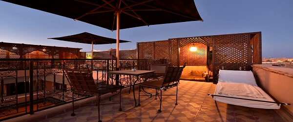 Aussichtsterrasse im Riad La Maison Nomade Marrakech