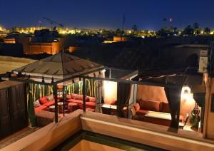 Dachterasse Hotel La Maison Nomade Marrakesch