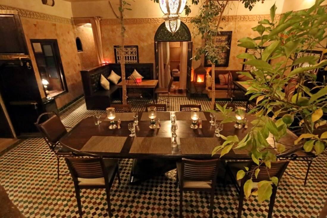 Der Innenhof vom Riad La Maison Nomade in Marrakech