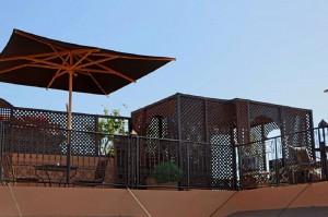 Sommerfestival Terrasse La Maison Nomade Marrakesch