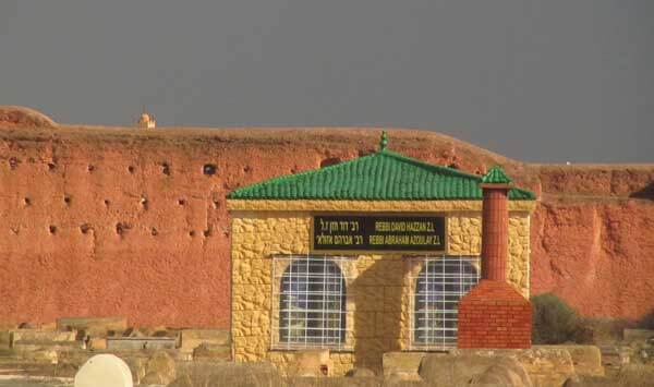 Pavillon im Jüdischen Friedhof in Marrakesch