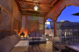 Sommerfestival auf der Terrasse Riad La Maison Nomade Marrakesch