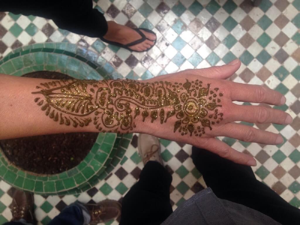 Handhenna, präpariert im Riad La Maison Nomade in Marrakesch
