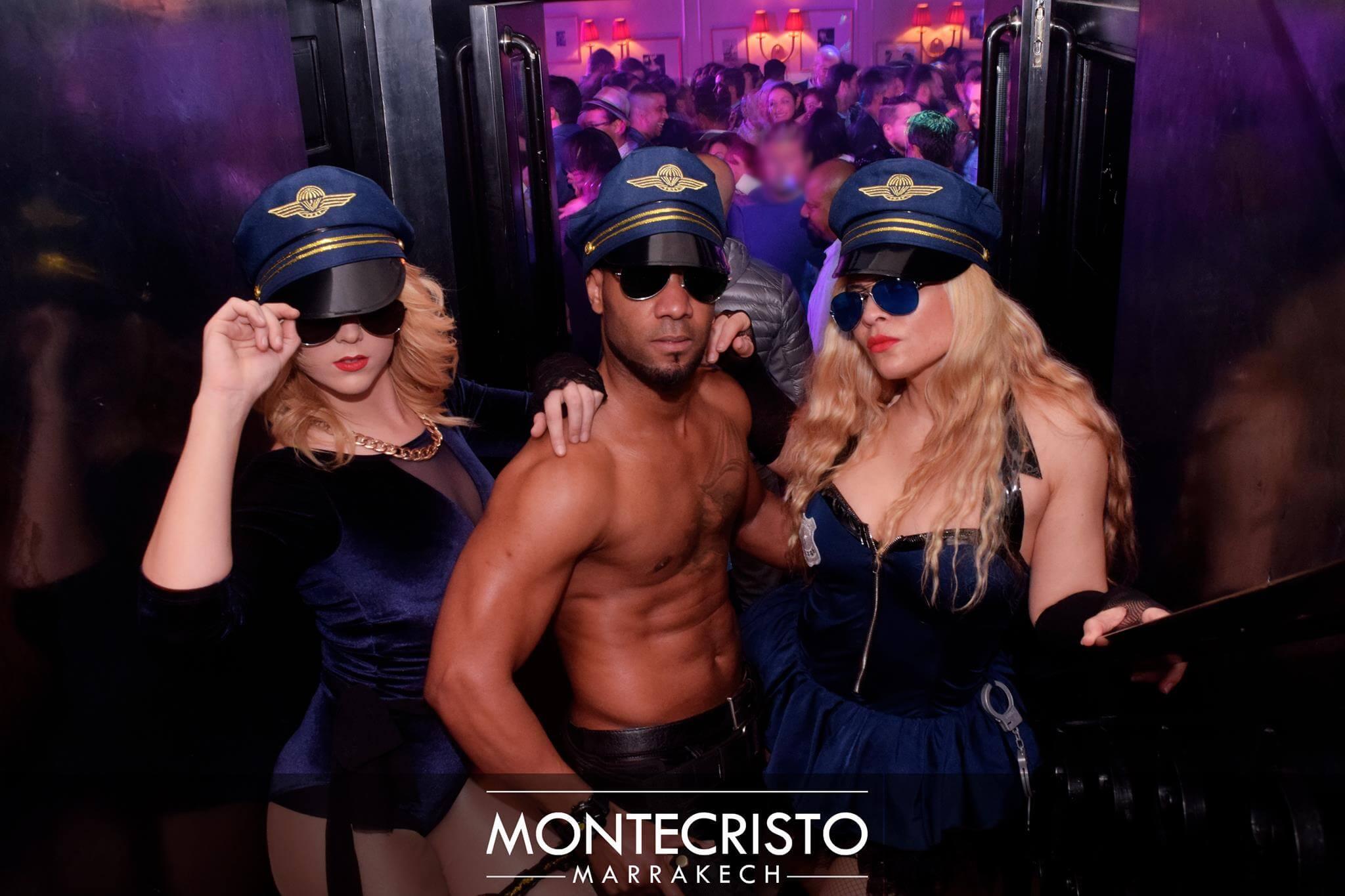 Montecristo, ein Nightclub in der Neustadt Gueliz von Marrakesch