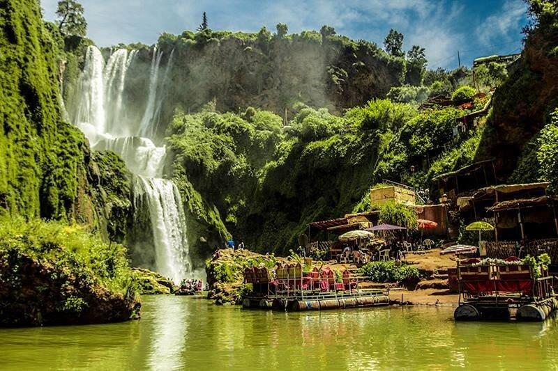 Sommerferien in Marokko mit dem Hotel La Maison Nomade zu den Wasserfällen von Ouzoud
