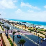 Strandpromenade von Rabat, der Hauptstadt von Marokko