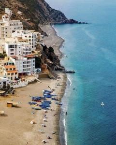 Tamernout Beach bei Tetouan am Mittelmeer in Marokko