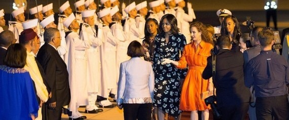 MICHELLE-OBAMA-Marrakesch Juni 2016