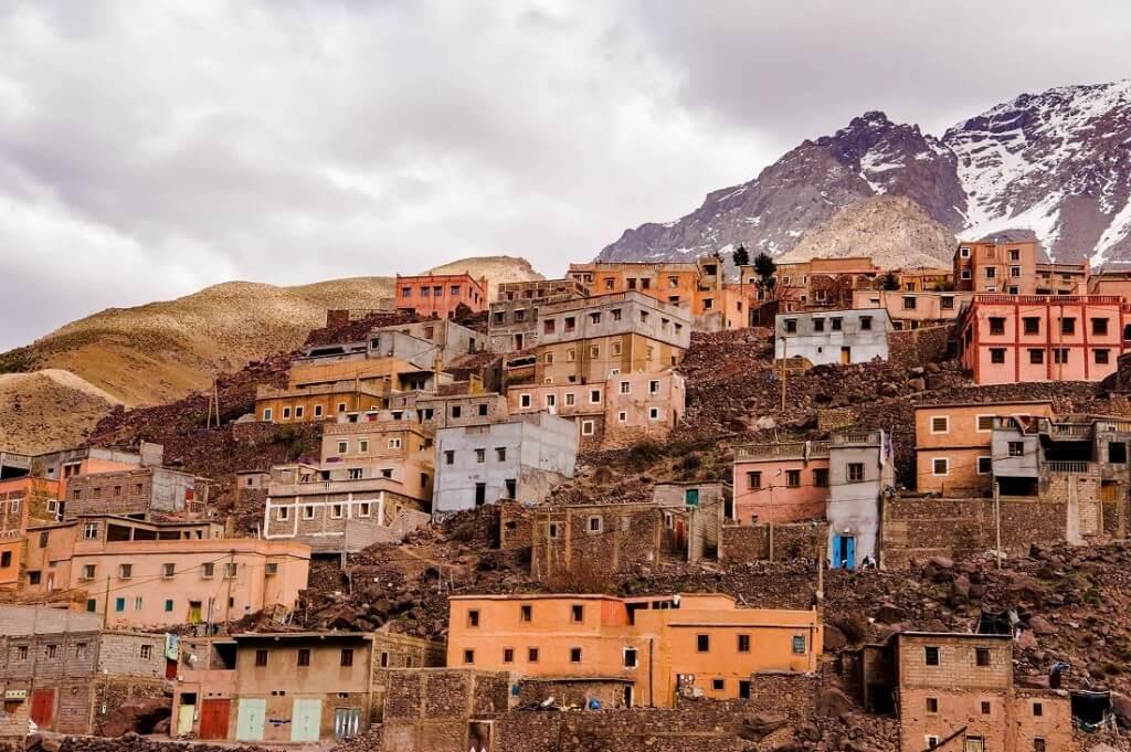 Mit dem Riad La Maison Nomade zum Bergdorf Imlil im Hoher Atlas Marokko