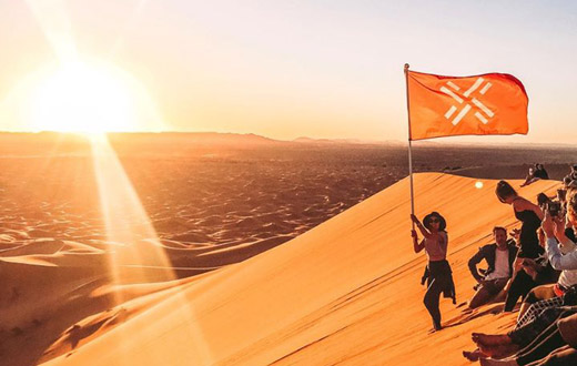 Sahara in Marokko mit dem Hotel La Maison Nomade