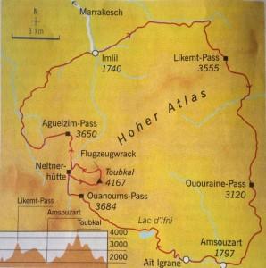 Landkarte Toubkal