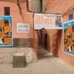 Eingang zum Frauenhaus Kawtar in Marrakesch