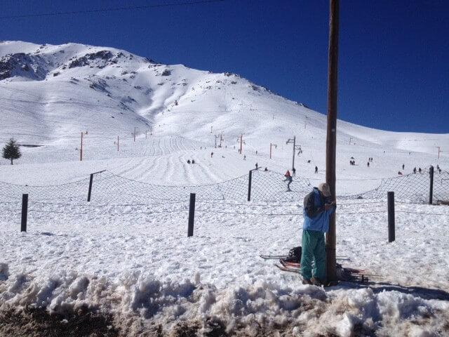 Berge mit Schnee