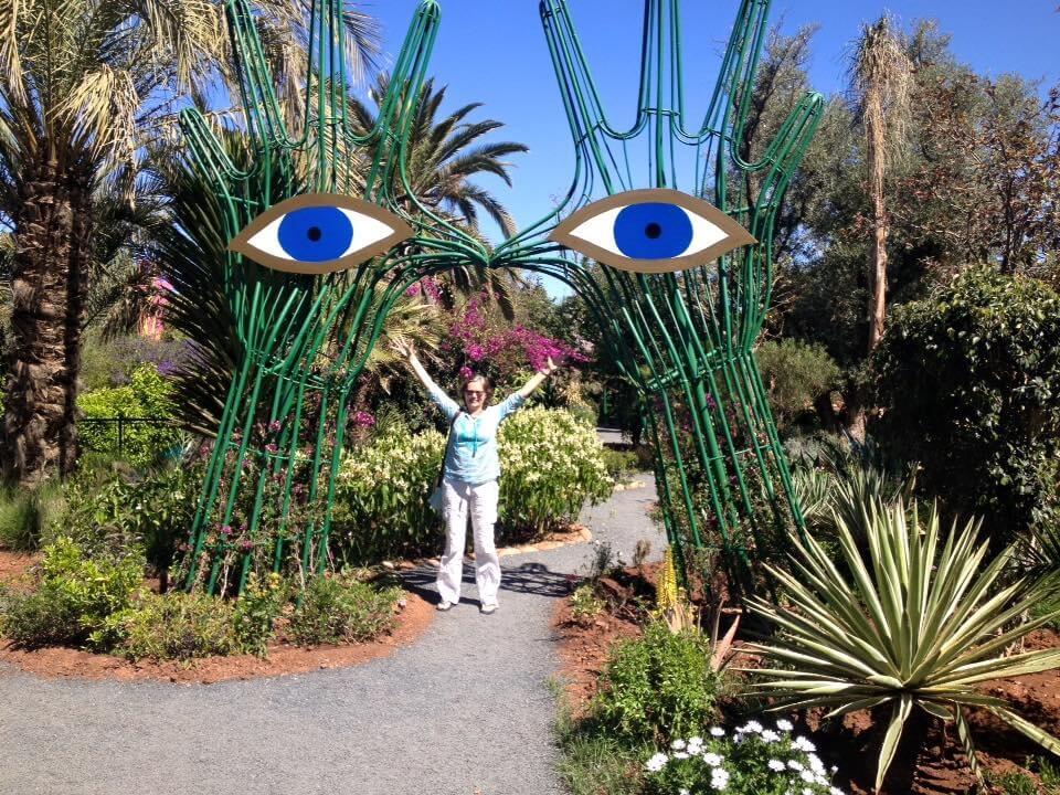 Mit dem Riad La Maison Nomade zum Anima Garten in Marrakesch