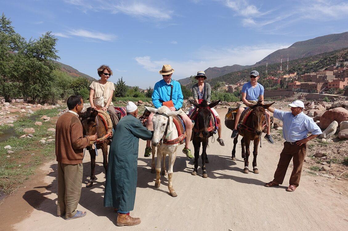 Städtereise Marrakesch/Mit Mulis in ein Berberdorf