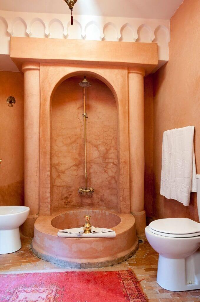 Orientalische Dusche im Bad des Zimmers Soleil im Riad La Maison Nomade