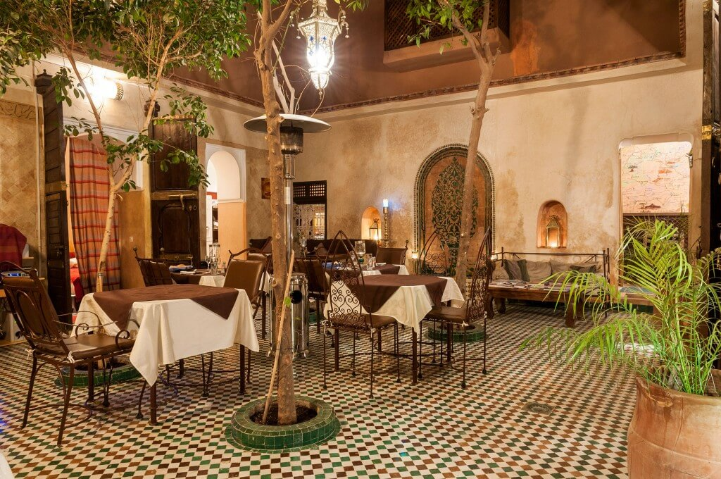Innenhof im Riad in Marrakesch La Maison Nomade