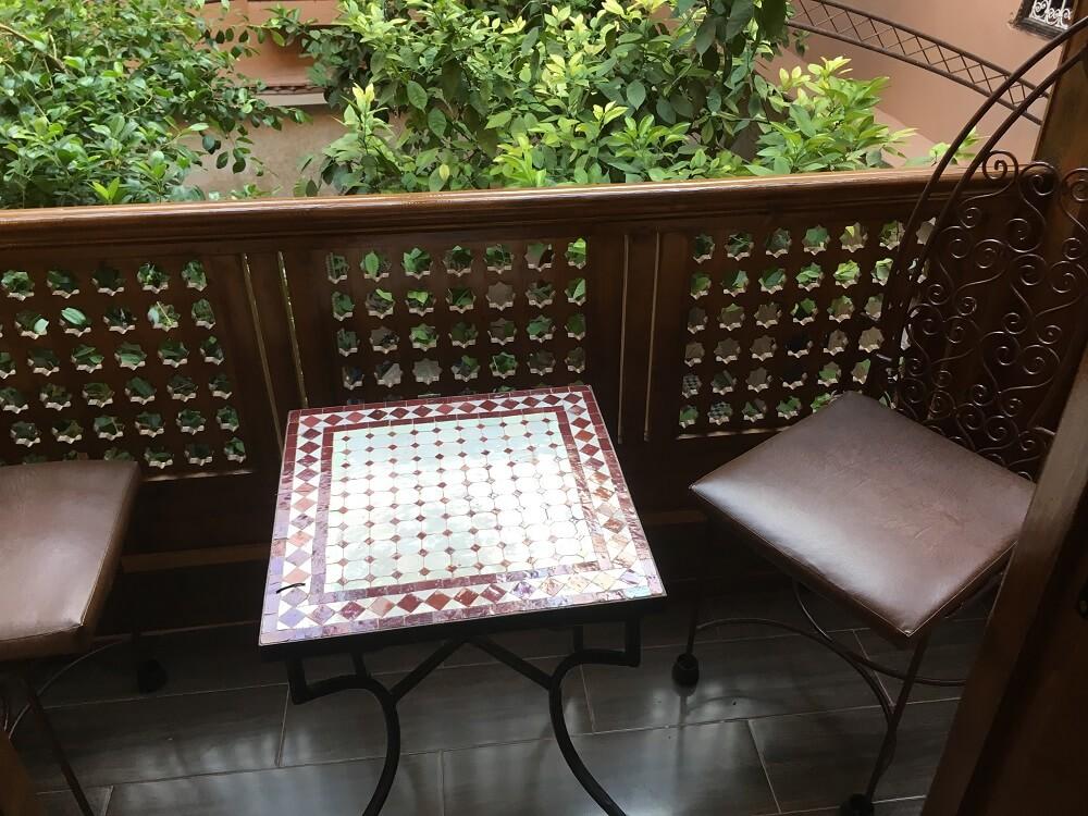 Balkon am Zimmer Medina Whispers im Riad La Maison Nomade Marrakesch