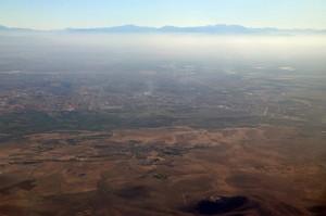 Anflug mit Royal Air Maroc auf Marrakech