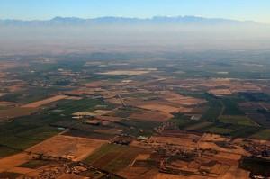 Anflug mit Royal Air Maroc auf den Flughafen in Marrakesch