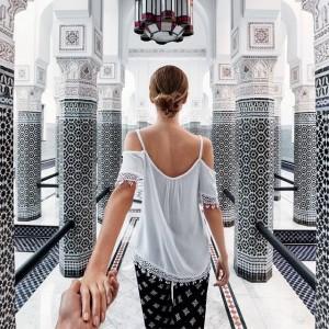 Frau in Marokko