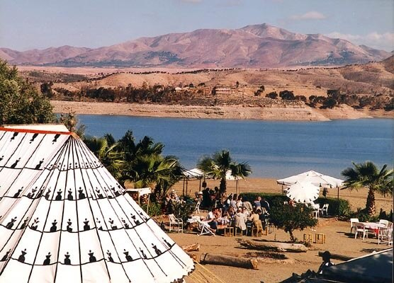 Marokkanisches Zelt neber dem Stausee Lalla Takerkoust