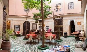 Innenhof Hotel La Maison Nomade