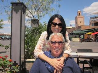 Die Inhaber Touria und Herbert vom Riad La Maison Nomade in Marrakesch
