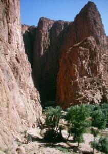 Bergschlucht in Marokko