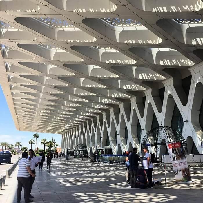 Flughafen Menara Marrakesch - hier werden die Gäste vom Riad La Maison Nomade abgeholt