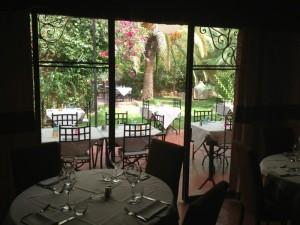 Restaurant mit Garten in Gueliz, der Neustadt von Marrakesch