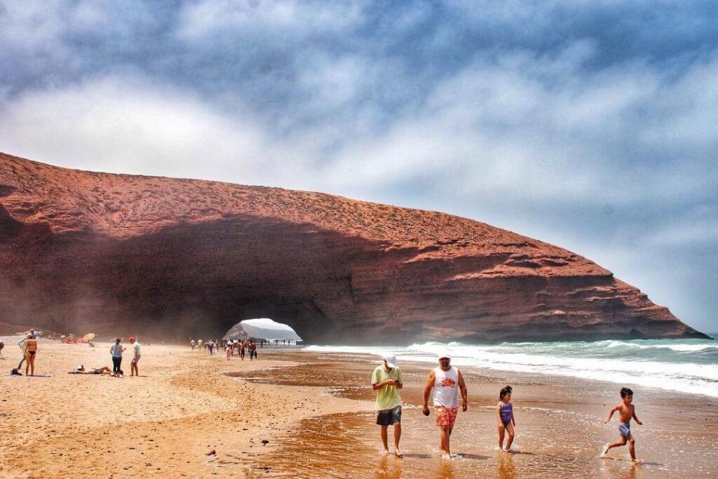Am Atlantik zwischen Agadir und Sidi Ifni der Strand Leghzira