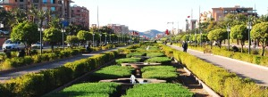 Boulevard Mohammed VI in der Neustadt von Marrakesch