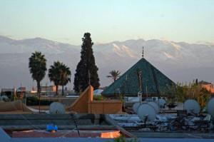 Blick von Terrasse LMN zum Hohen Atlas