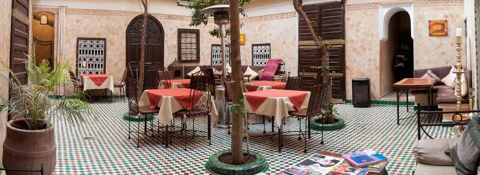 Innenhof im Riad La Maison Nomade Marrakesch