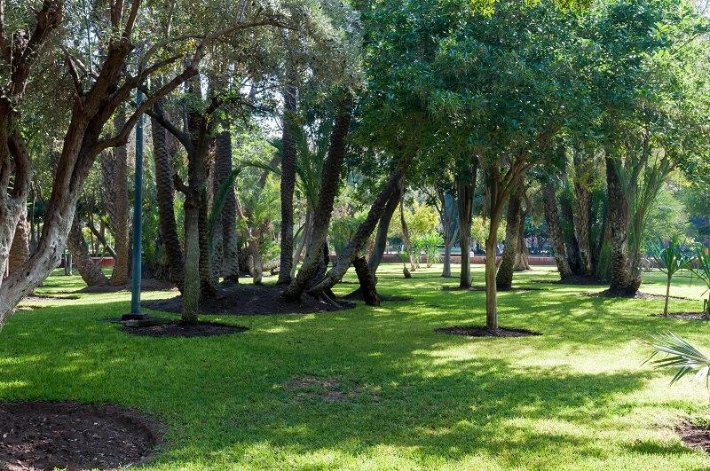 Großzügige Parkanlage der Cyber Park in Marrakesch