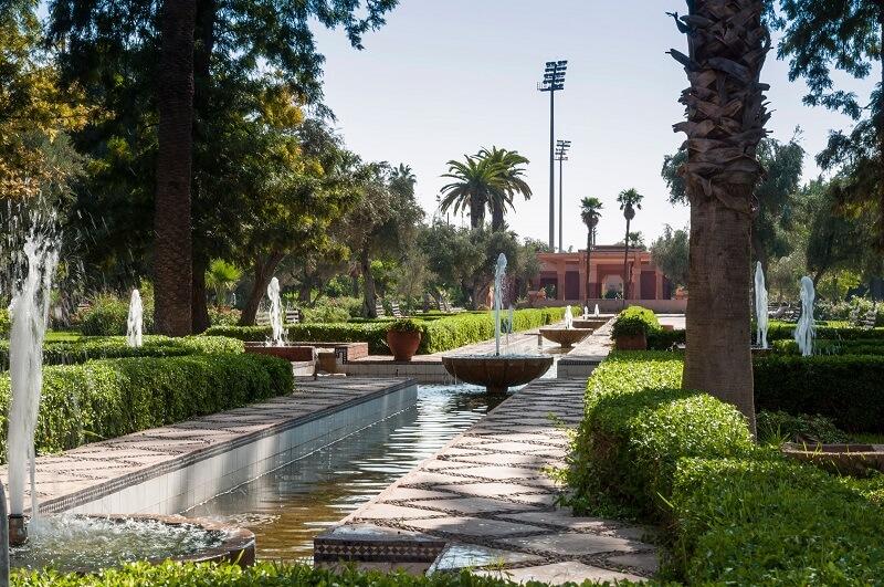 Harti-Park in Gueliz, der Neustadt von Marrakesch