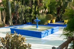 blauer Springbrunnen