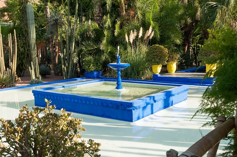 Der Jardin Majorelle vom Riad in Marrakesch zu Fuß in 20 min, zu erreichen