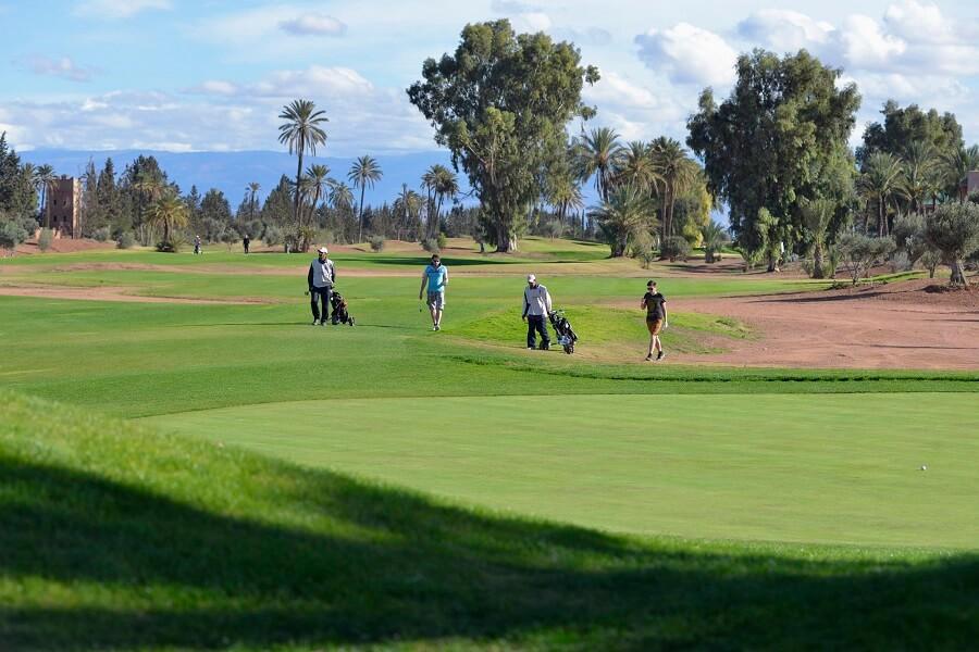 Golfspielen mit dem Hotel La Maison Nomade auf dem Golfplatz Amelkis in Marrakesch
