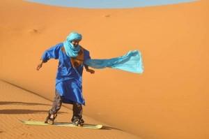 Duenensurfen in Marokko