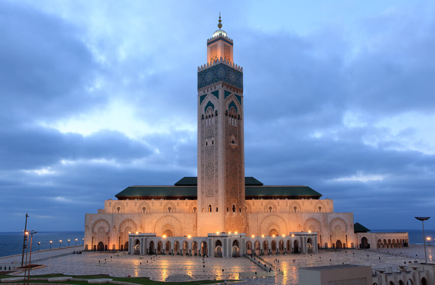 Urlaub & Rundreisen Marokko zur Moschee Hassan II in Casablanca