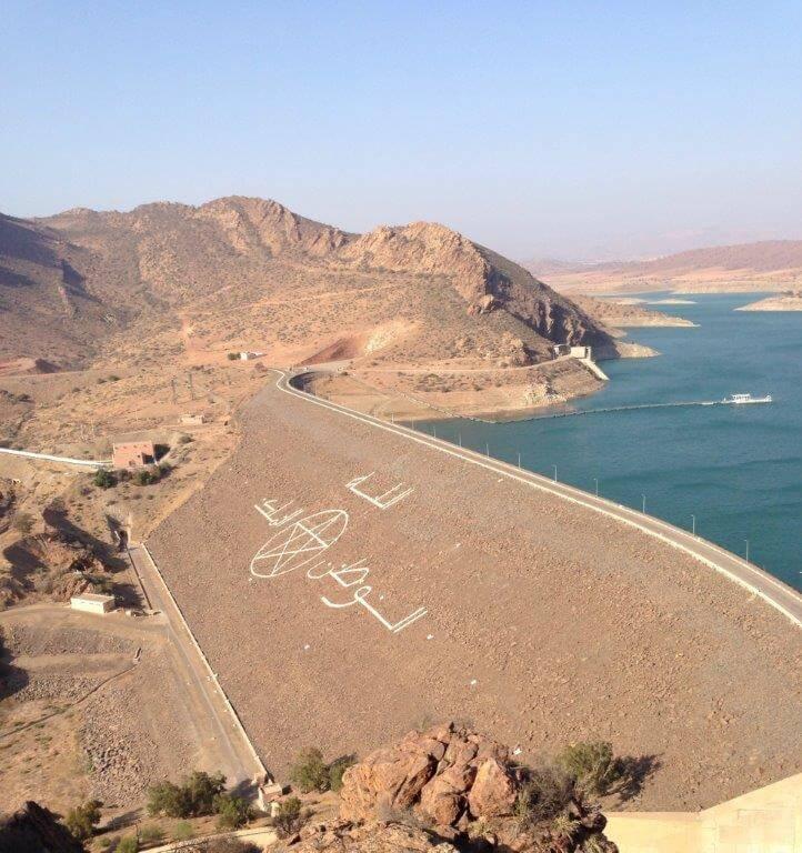 Einer der vielen Stauseen in Marokko